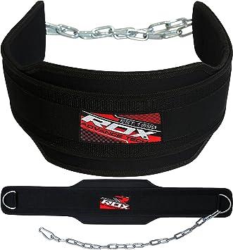 8c6adda820abf RDX Dipgürtel mit Kette Gewichtsgürtel Klimmzüge Trainingsgürtel Neopren  Bodybuilding Crossfit Fitness Krafttraining Weightlifting Dip Belt (