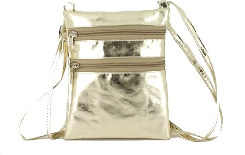 LONI Faux Suede Patent Metallic Charming Envelope Clutch Shoulder Crossbody Bag