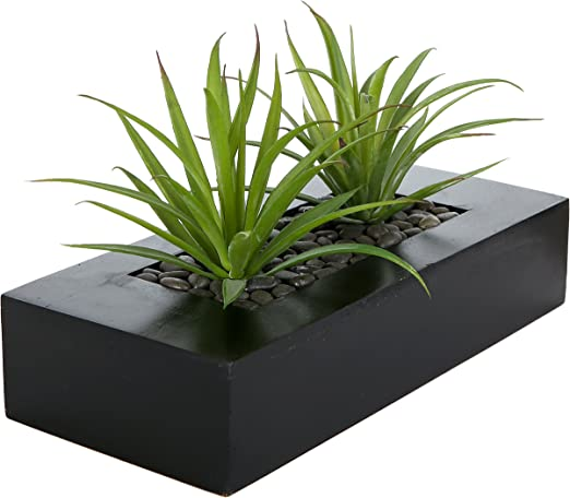 Amazon Com Mygift Artificial Green Grass Plants In Decorative