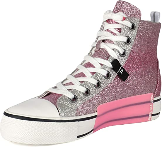 Ash Glover Zapatillas con Purpurina Rosa y Plateada: Amazon