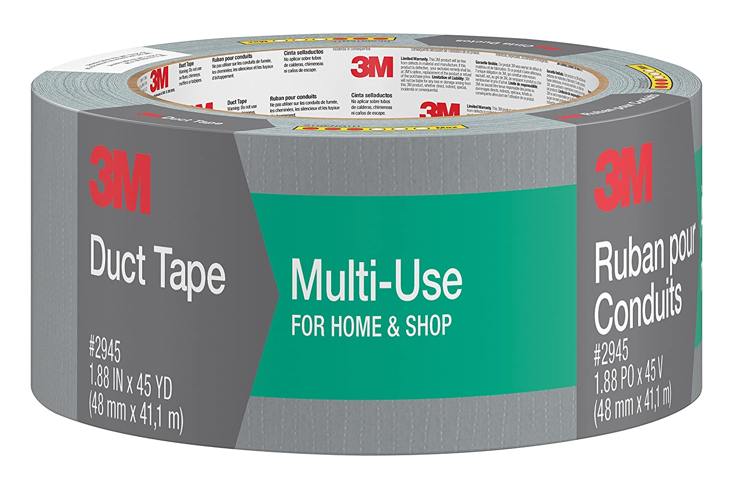 Voorkeur Amazon.com: 3M Multi-Use Duct Tape, 2945-C, 1.88 Inches by 45 DM16