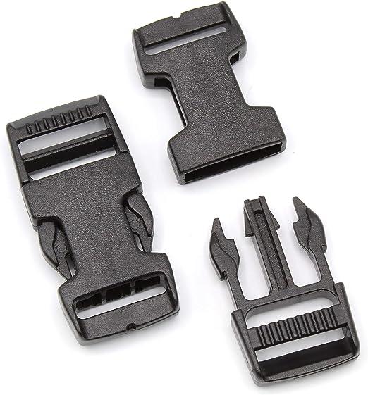 D ring Steckschließer Verstellschieber Set 25 mm 38 mm