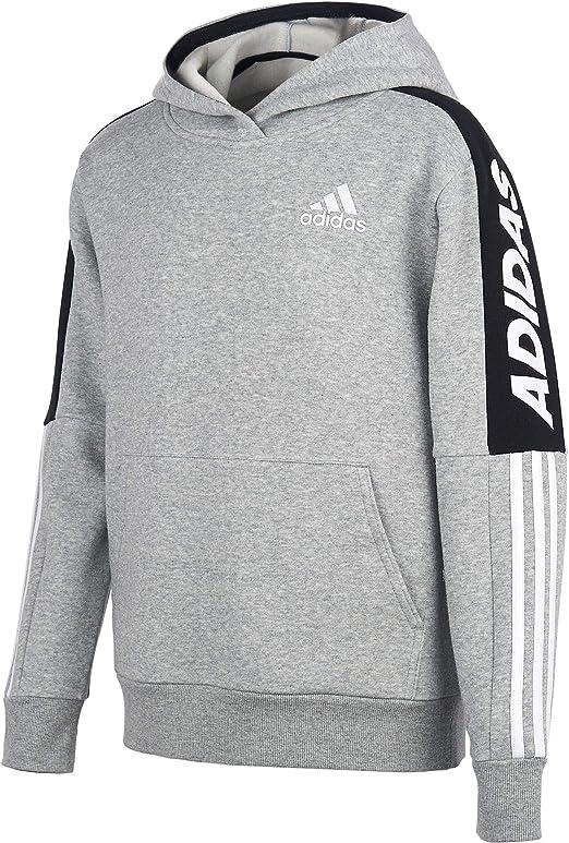 adidas boys' fleece 3-stripe hoodie
