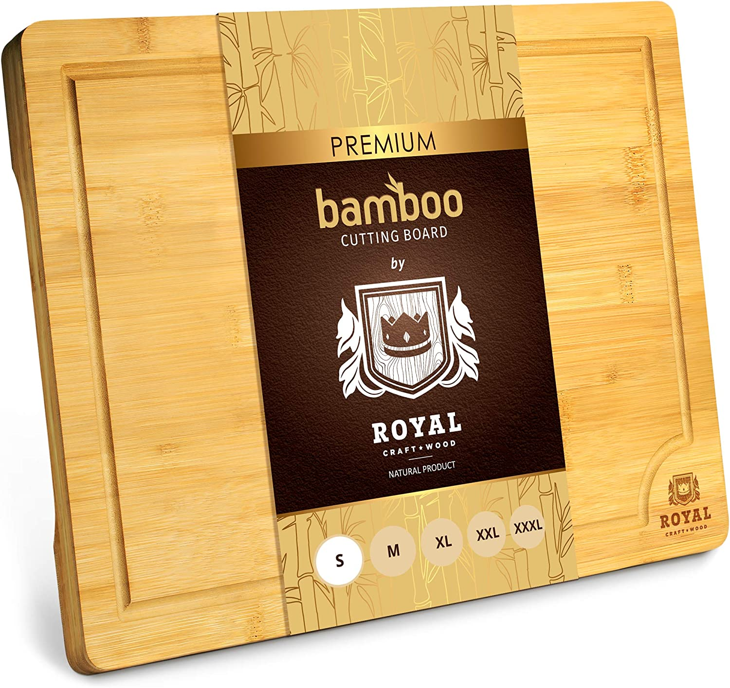 Bamboo Cutting Board With Juice Groove Kitchen Chopping Board For Meat Butcher Block Cheese And Vegetables Heavy Duty Serving Tray W Handles Small 12 X 8 Kitchen Dining
