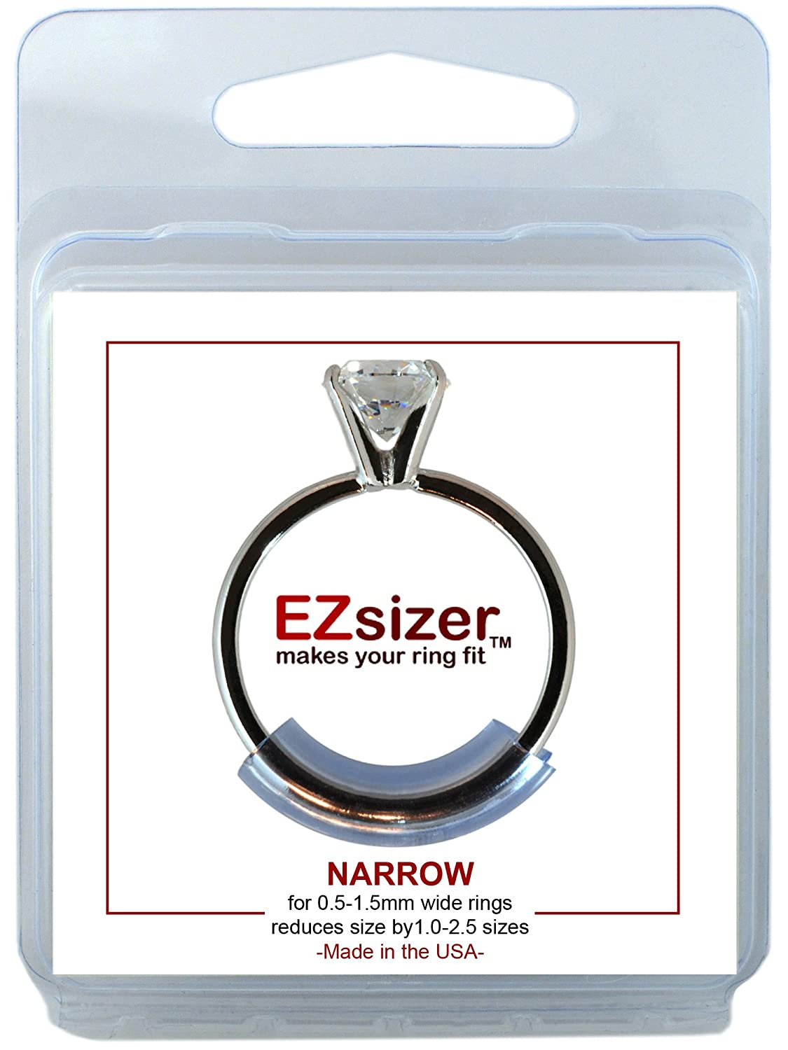 Amazon.com: EZsizer Ring Size Reducer, Ring Guard, Ring Size Adjuster Size:  Mixed, 1 Narrow, 1 Medium, 1 Wide, for rings 0.5 mm-6.0 mm wide.