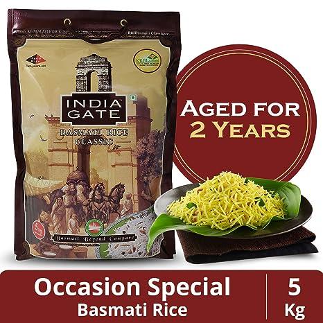 India Gate Basmati Rice Bag, Classic, 5kg
