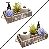 Nice Butt Bathroom Decor Box, 2 Sides with Funny Sayings - Funny Toilet Paper Holder Perfect for Farmhouse Bathroom…