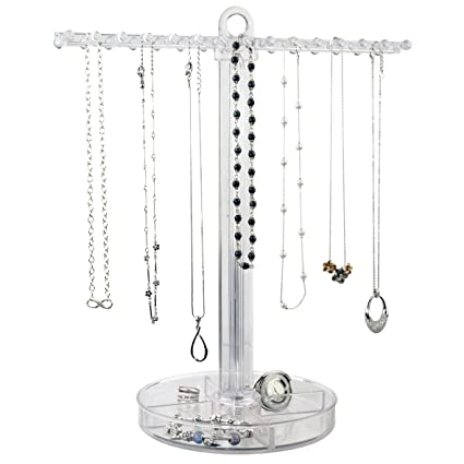 Amazoncom STORi Clear Plastic Necklace Holder with 30 Individual