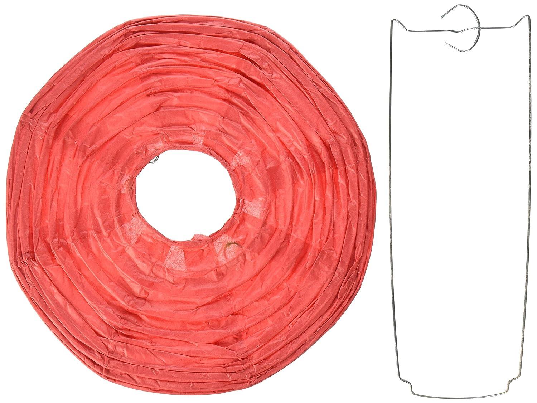 球体ペーパーランタン うね織り模様 ぶらさげるのに(電球は別売り) 8 Inch レッド FBA_8EVP-RD 1 B00T5E3Y8W 8 Inch|レッド レッド 8 Inch