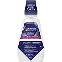 Crest 3D White Glamorous Whitening Mouthwash, Protects Against Stains, Fresh Mint, 946 ml
