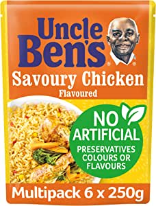 Uncle Ben's Savoury Chicken Flavour Rice, 6 x 250g