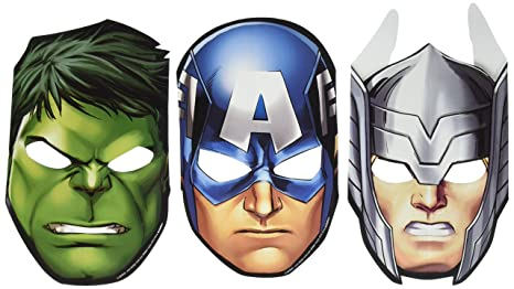 8 9 Toys For Birthdays : Amazon.com: amscan avengers birthday party mask favour pack of 8