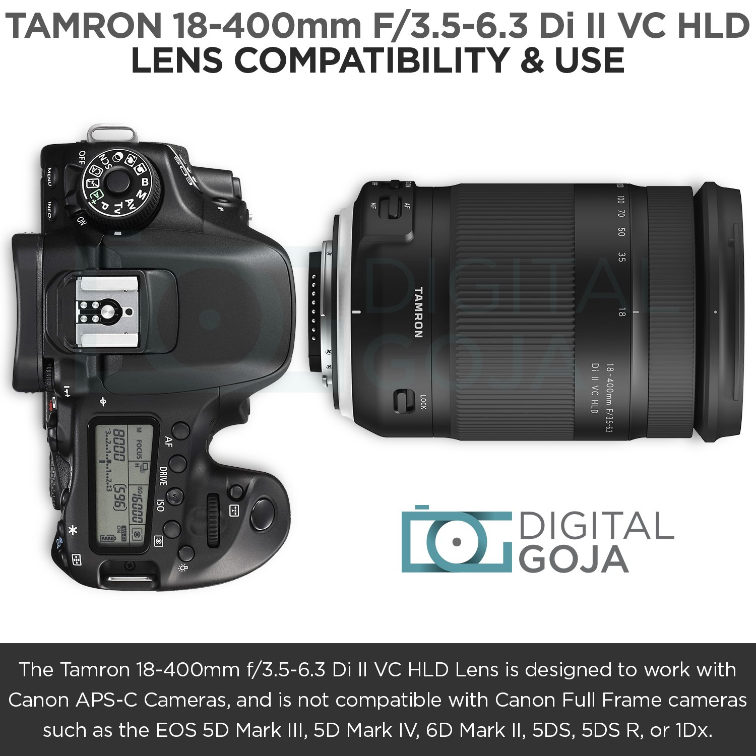 Tamron 18-400mm f/3.5-6.3 Di II VC HLD Lens for Canon DSLR Cameras w/Advanced Photo and Travel Bundle (Tamron 6 Year Limited USA Warranty) by Tamron (Image #3)