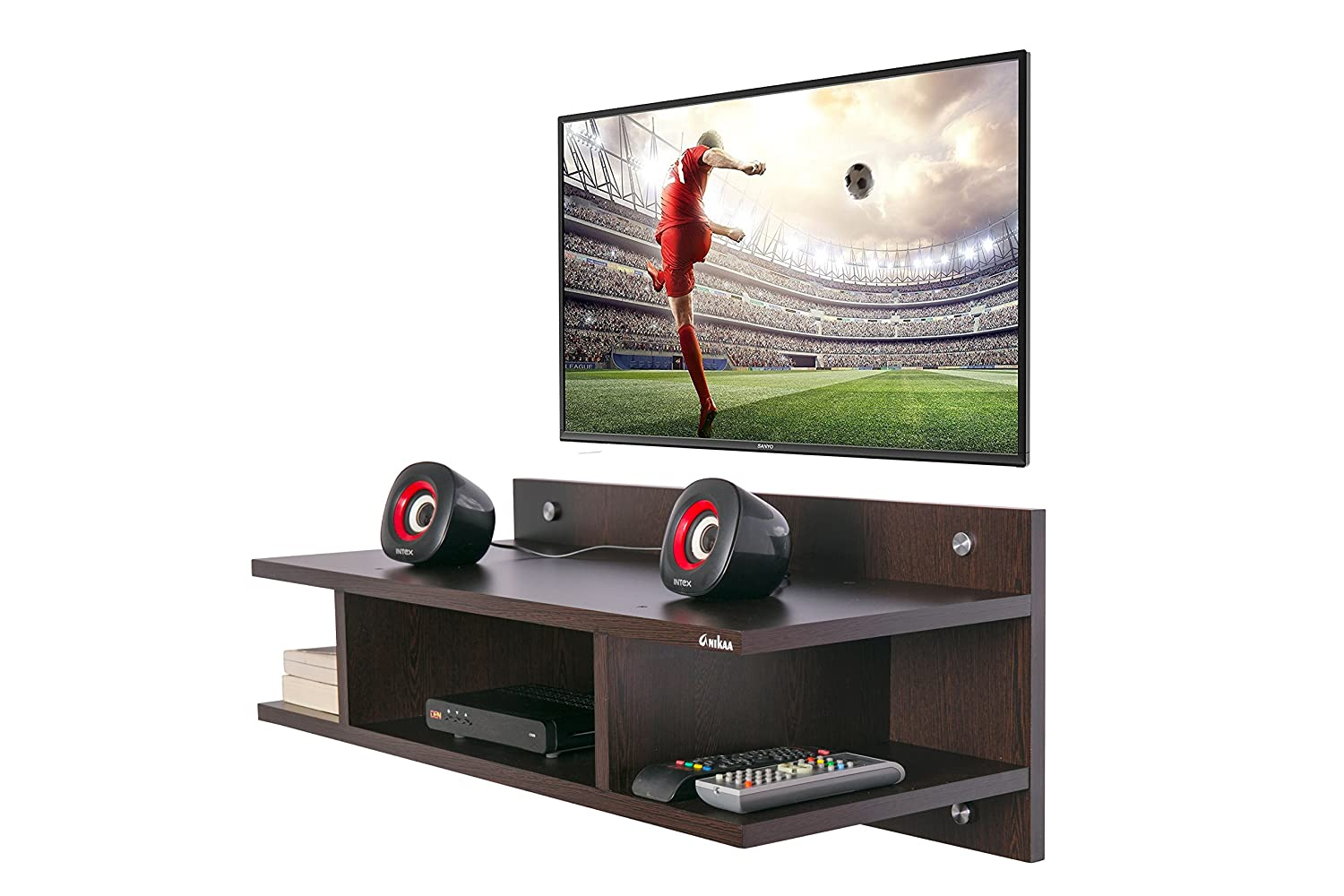 Anikaa Saffron TV Wall Unit Entertainment Units Mounted Set Top Box