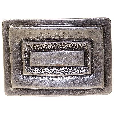 6f05033f854 Fronhofer Boucle de ceinture couleur argent vieilli