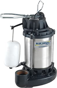 Blue Angel Pumps SSF50S 1/2 HP Premium Series Submersible Stainless Steel Sump Pump