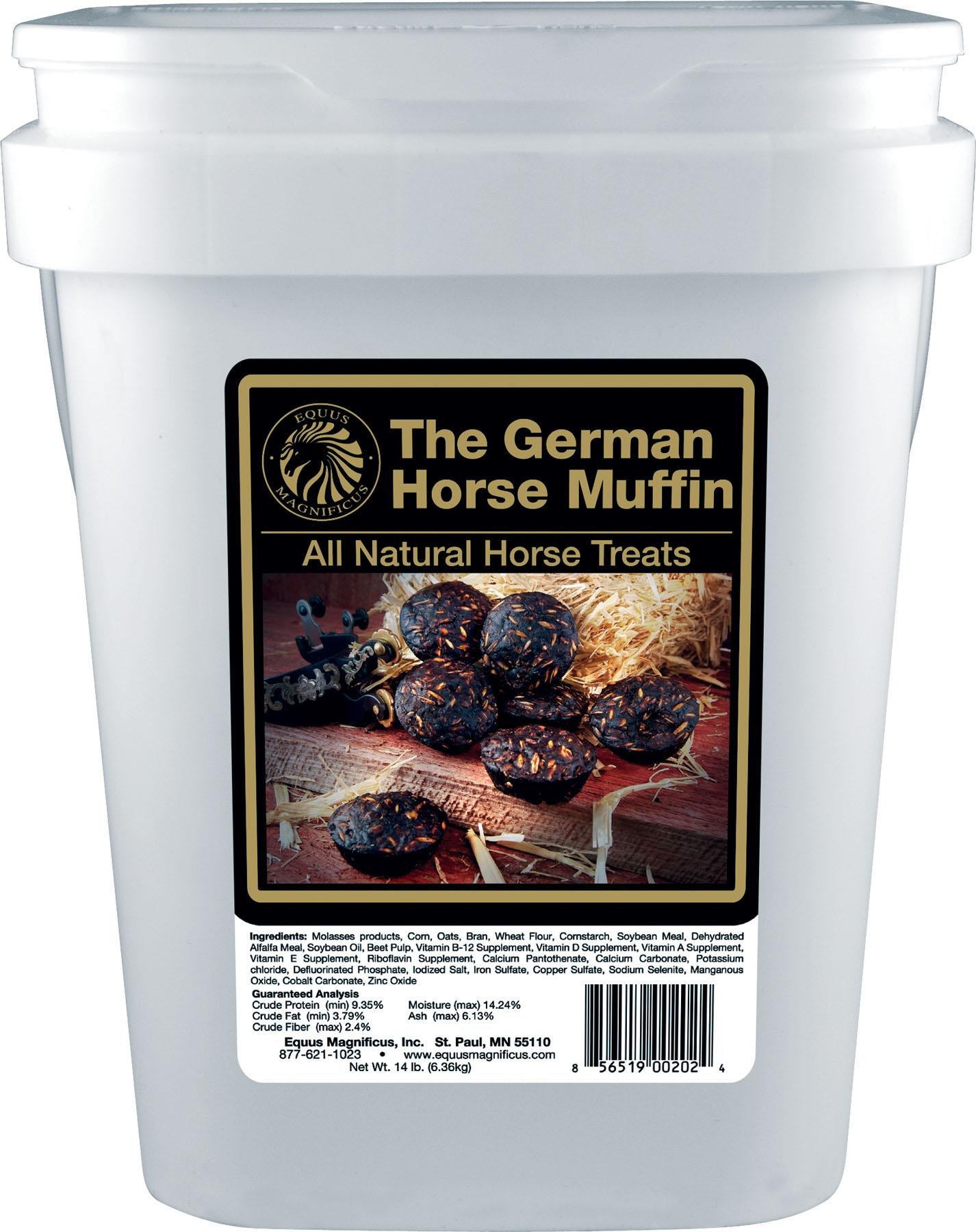 EQUUS MAGNIFICUSINC. D The German Horse Muffin All Natural Horse Treats 14 Pound Bucket