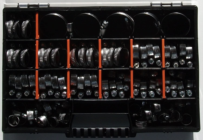100 x Schlauchschellen Klemmschellen Edelstahl W2 12-22mm TOP Preis
