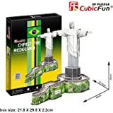 3D Puzzle Christ the Redeemer Jesus Statue Cubic Fun Christusstatue Statue Christus Brasilien Rio the Janeiro