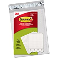 Command PH206-14NA Picture Hanging Strips, Large, White, 14-Pairs