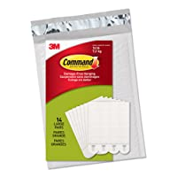 Command PH206-14NA Picture Hanging Strips, Large, White, 14 Pairs