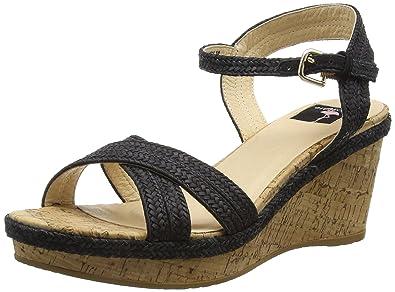 29, Damen Offene Sandalen mit Keilabsatz, Weiß (White), 39 EUGiudecca