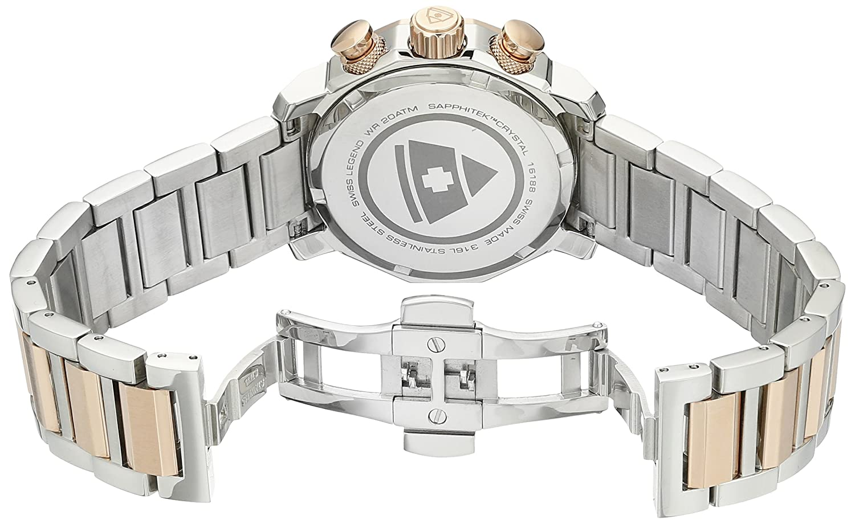 Amazon.com: Swiss Legend Womens 16188SM-SR-33 Blue Geneve Analog Display Swiss Quartz Two Tone Watch: Watches