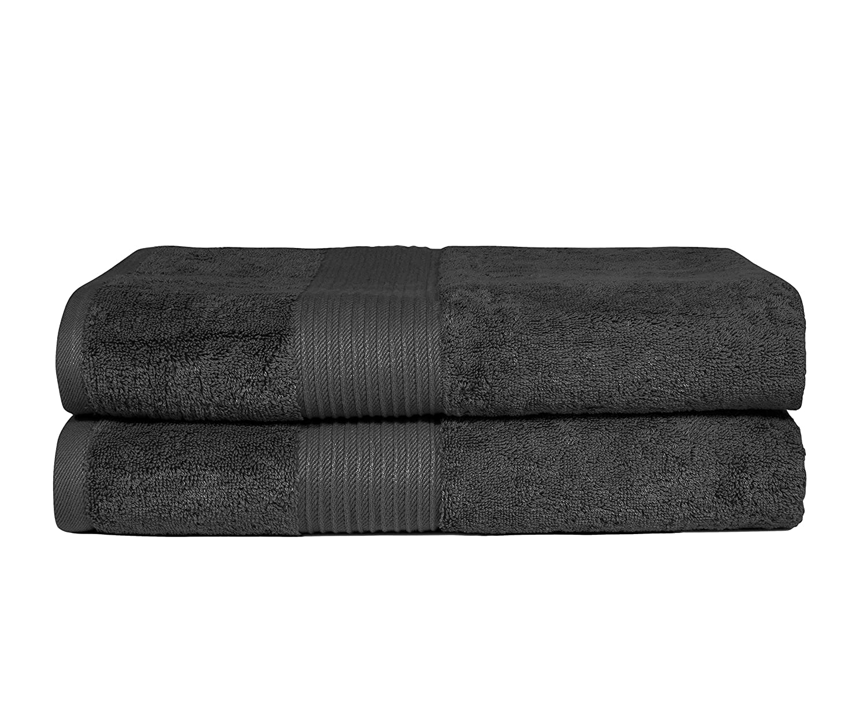 Asciugamano da Bagno in Cotone Pettinato Bliss Luxury 650 g//mq qualit/à Premium 2 Pack Bath Towel Extra Large Morbido e Assorbente Dark Grey 86,4 x 142,2 cm