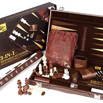 Backgammon Kassette aus Holz Wahl 2
