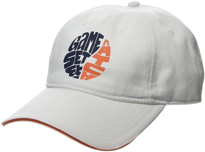 Lacoste - Gorra de béisbol - para Hombre (Blanc/Abricot-Marine-Orange