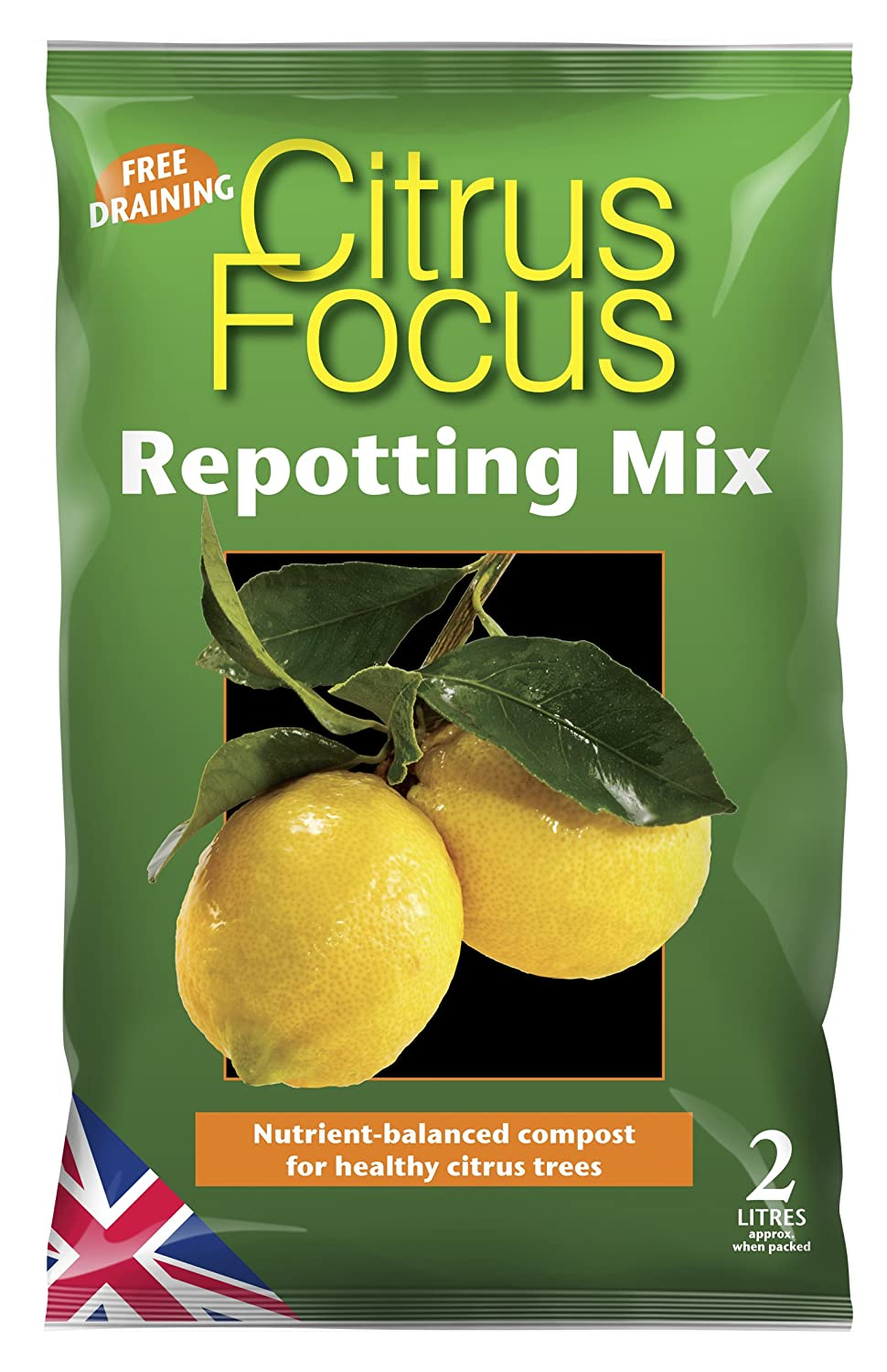 Citrus Focus Repotting Mix 2 Litre Growth Technology Ltd MDCIF2