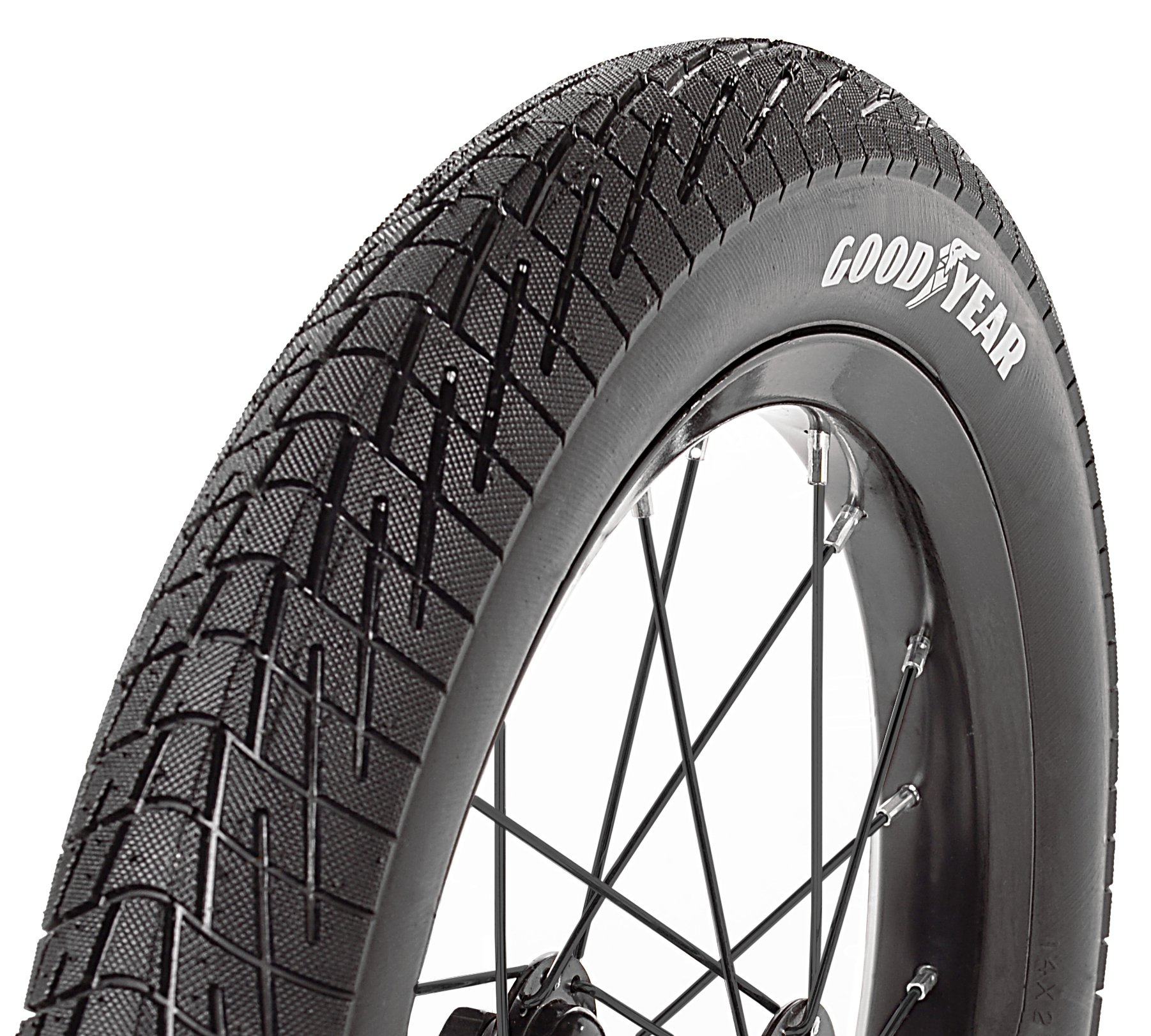 Goodyear Folding Bead Bicycle Tire, 14'' x 1.5/2.25'', Black