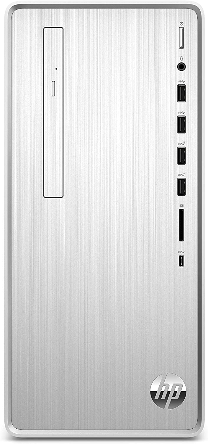 HP Pavilion Desktop Computer, Intel Core i3-9100, 8GB RAM, 1TB Hard Drive, 256 GB SSD, Windows 10 (TP01-0030, Silver) (Renewed)