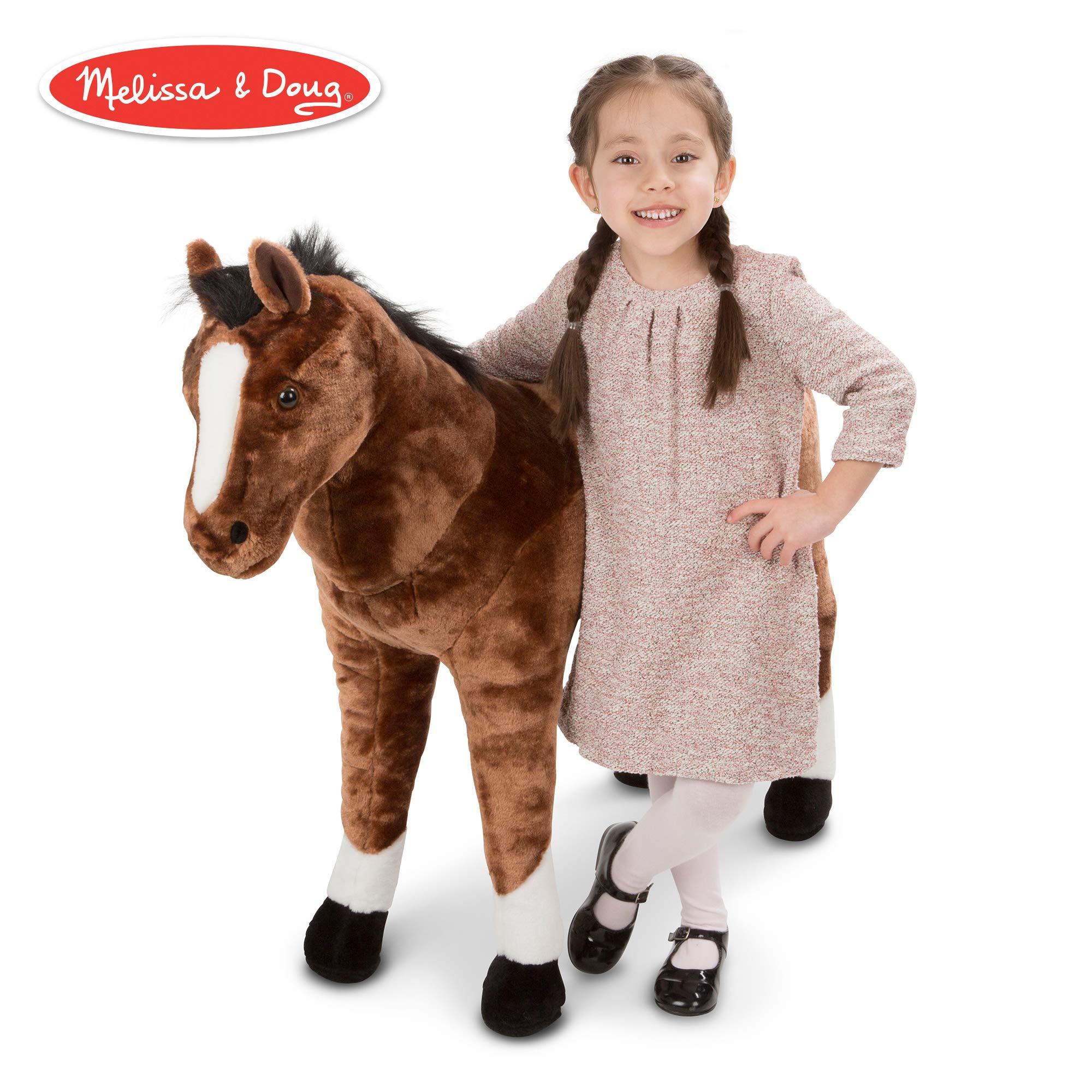 Melissa & Doug Giant Horse - Lifelike Stuffed Animal (nearly 3 feet tall) by Melissa & Doug