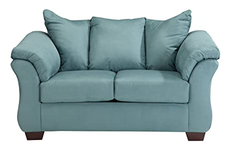 Pleasing Ashley Furniture Signature Design Darcy Loveseat 2 Seats Ultra Soft Upholstery Contemporary Sky Interior Design Ideas Apansoteloinfo
