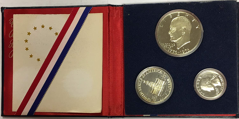 Set Of 5 3 pc. Silver U.S. Proof Sets 1976 Bicentennial