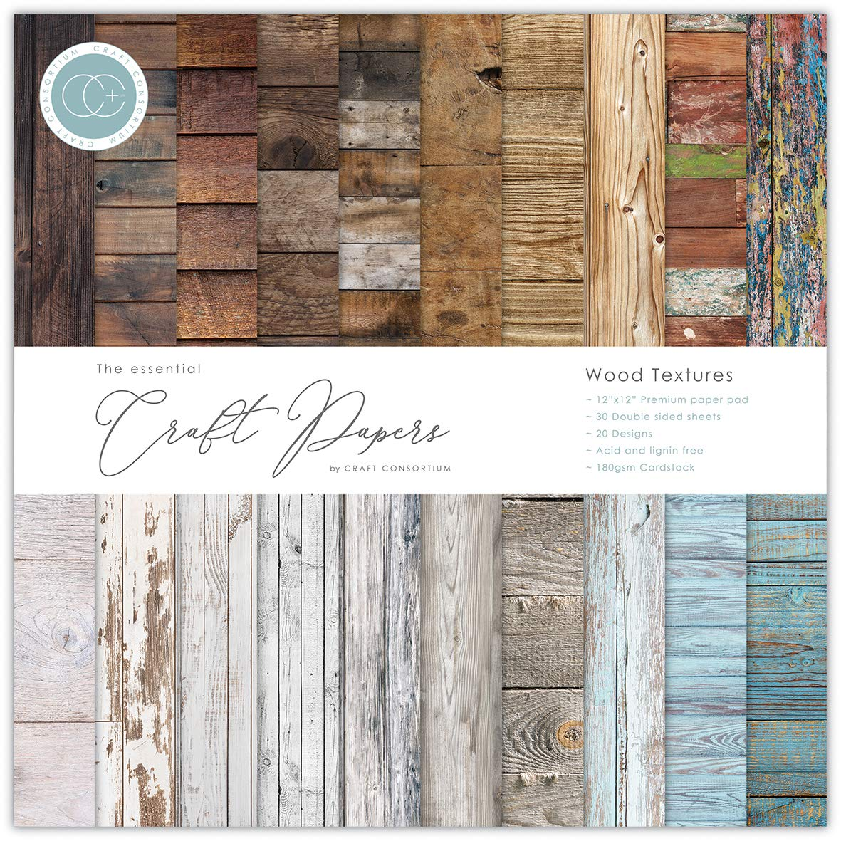 Craft Consortium - The Essential Craft Papers - Wood Textures