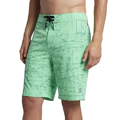 "d2c5237fe4 Hurley MBS0007520 Men's JJF Maps Heather 20"" Board Shorts, Electro  Green - 32"