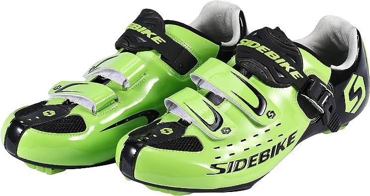 Asvert Zapatillas de Ciclismo Carretera Unisex Profesional con Plantilla Antideslizante Amortiguador para Bicicleta al Aire Libre (43, Verde): Amazon.es: Deportes y aire libre
