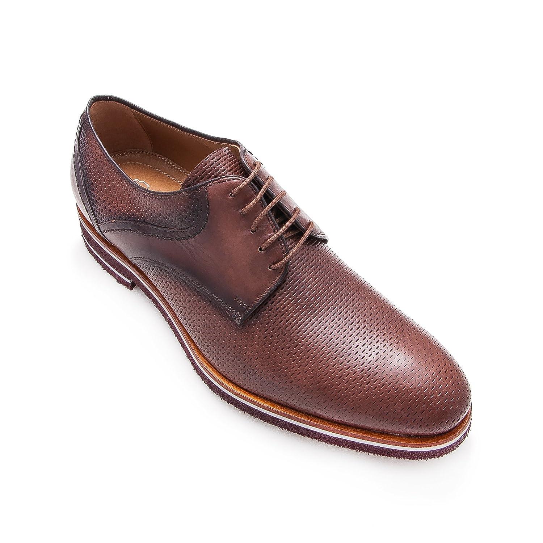 Zerimar Lederschuh Schuhe fuuml;r Herren Schuhe Elegant Herren Lederschuhe Casual Echter Leder Schuh fuuml;r Mann Bequeme Schuhe Man  40 EU|Braun1
