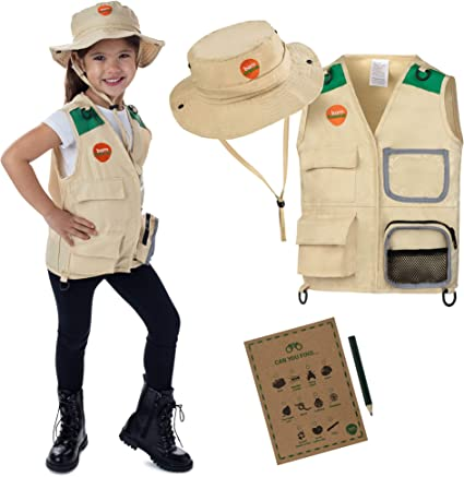 Born Toys Explorer and Safari Costume Vest and Hat Set for Kid ...