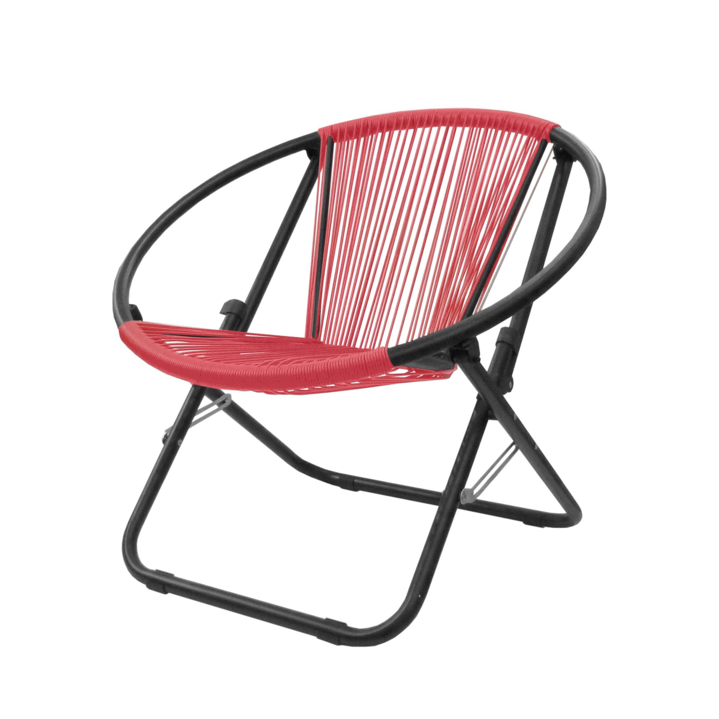 Urban Shop Outdoor Woven Chair, Coral
