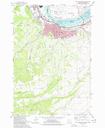 Amazon Com Yellowmaps The Dalles South Or Topo Map 1 24000 Scale