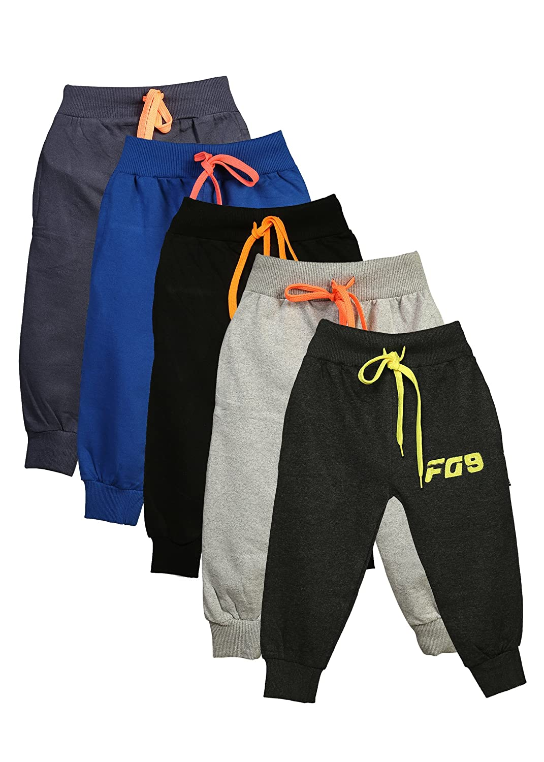 Boys Girls Pants Toddlers Cotton Track Pant Joggers-Pack Of 5