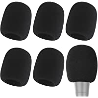 Microphone Cover - Foam Mic Covers Windscreen Suitable for Most Standard Handheld Microphone 6 PCS