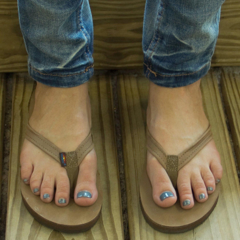 a5e29f3f58e5 Rainbow Sandals Women s Premier Leather Narrow Strap Single Layer ...