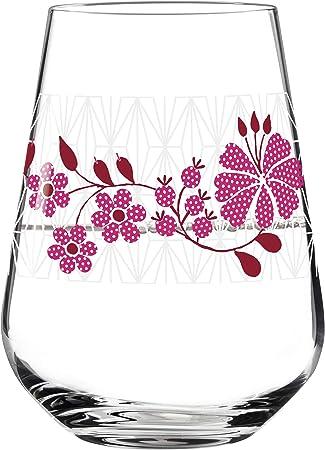 RITZENHOFF Aqua Copa de vino, vaso de agua, cristal, Blanco mate, rojo, rosa