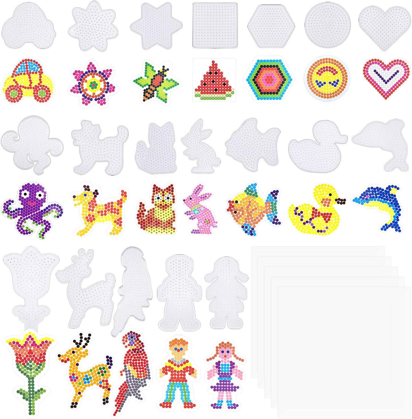 19 tableros para canutillos hama beads distintas formas