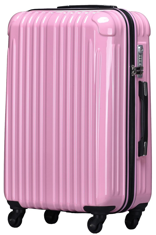 strike[ストライク]超軽量 2年保証 スーツケース TSAロック搭載 旅行バック トランクケース 旅行カバン B07588FPQT 大型アウトレット|ピンク ピンク 大型アウトレット