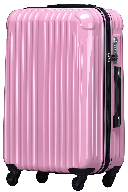strike[ストライク]超軽量 2年保証 スーツケース TSAロック搭載 旅行バック トランクケース 旅行カバン B072Q1QVNL 大型Lサイズ(長期滞在)|ピンク ピンク 大型Lサイズ(長期滞在)